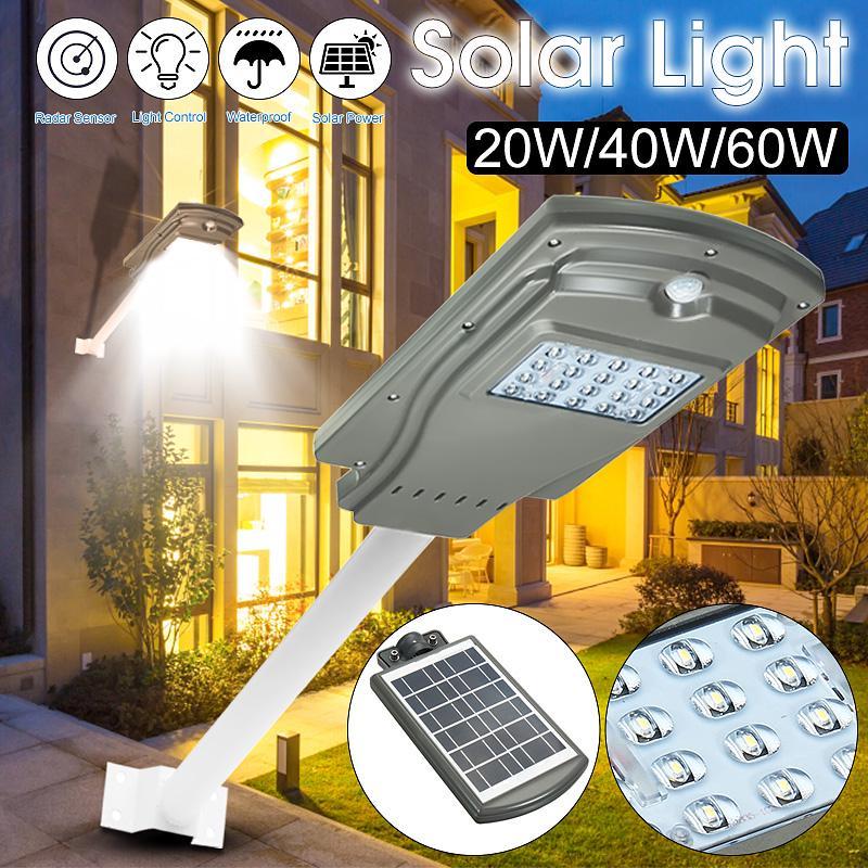 Proiector Lampa Stradala LED 20W cu panou solar si senzor de miscare pret