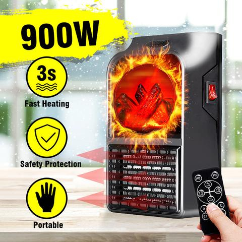 Image of Aeroterma portabila cu telecomanda si Display Putere 900W Flame Heater