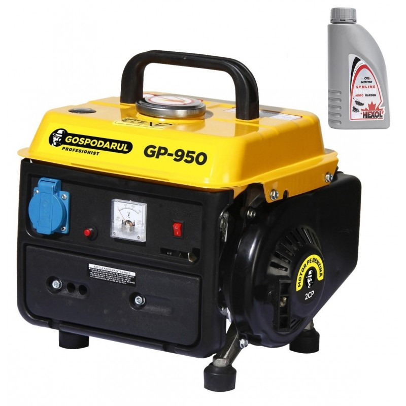 Image of Pachet Generator Gospodarul Profesionist GP-950, 900W + Ulei Hexol 2T