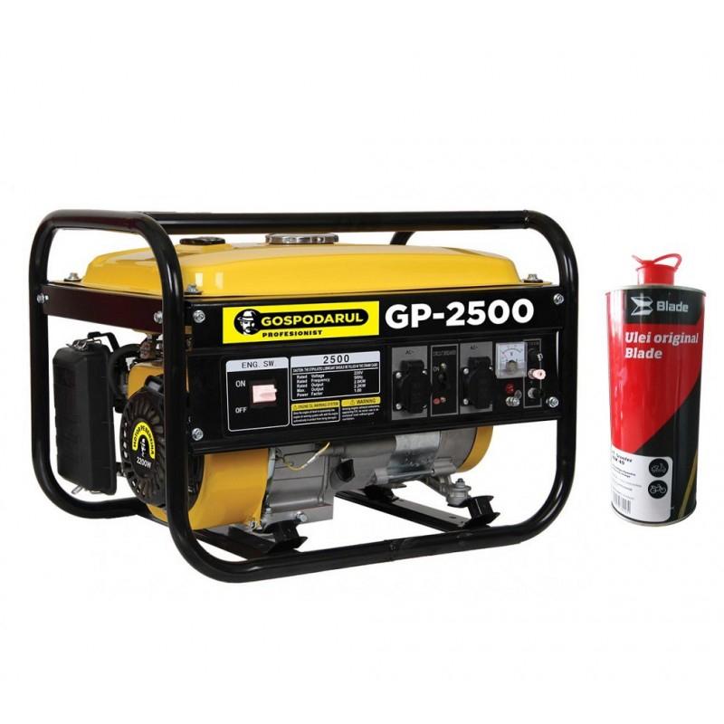 Pachet Generator Gospodarul Profesionist GP-2500, 2200W, 6.5cp + ULEI pret
