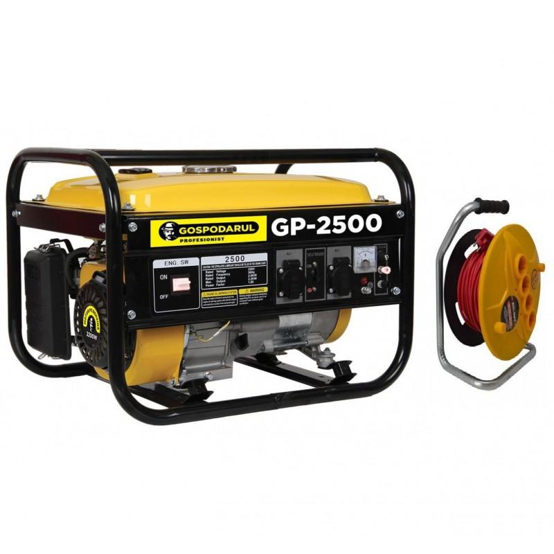 Image of Pachet Generator Gospodarul Profesionist GP-2500, 6.5cp, 2200W + Prelungitor 50m 3x2.5 BullMax
