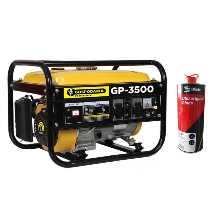 Image of Pachet Generator 2800W 7Cp + ULEI 4T ,Gospodarul Profesionist GP-3500