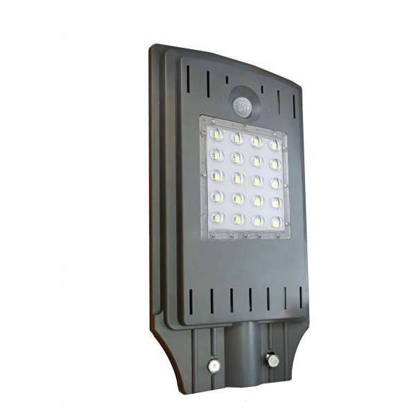 Lampa stradala LED cu panou solar si senzor de lumina 20 W pret