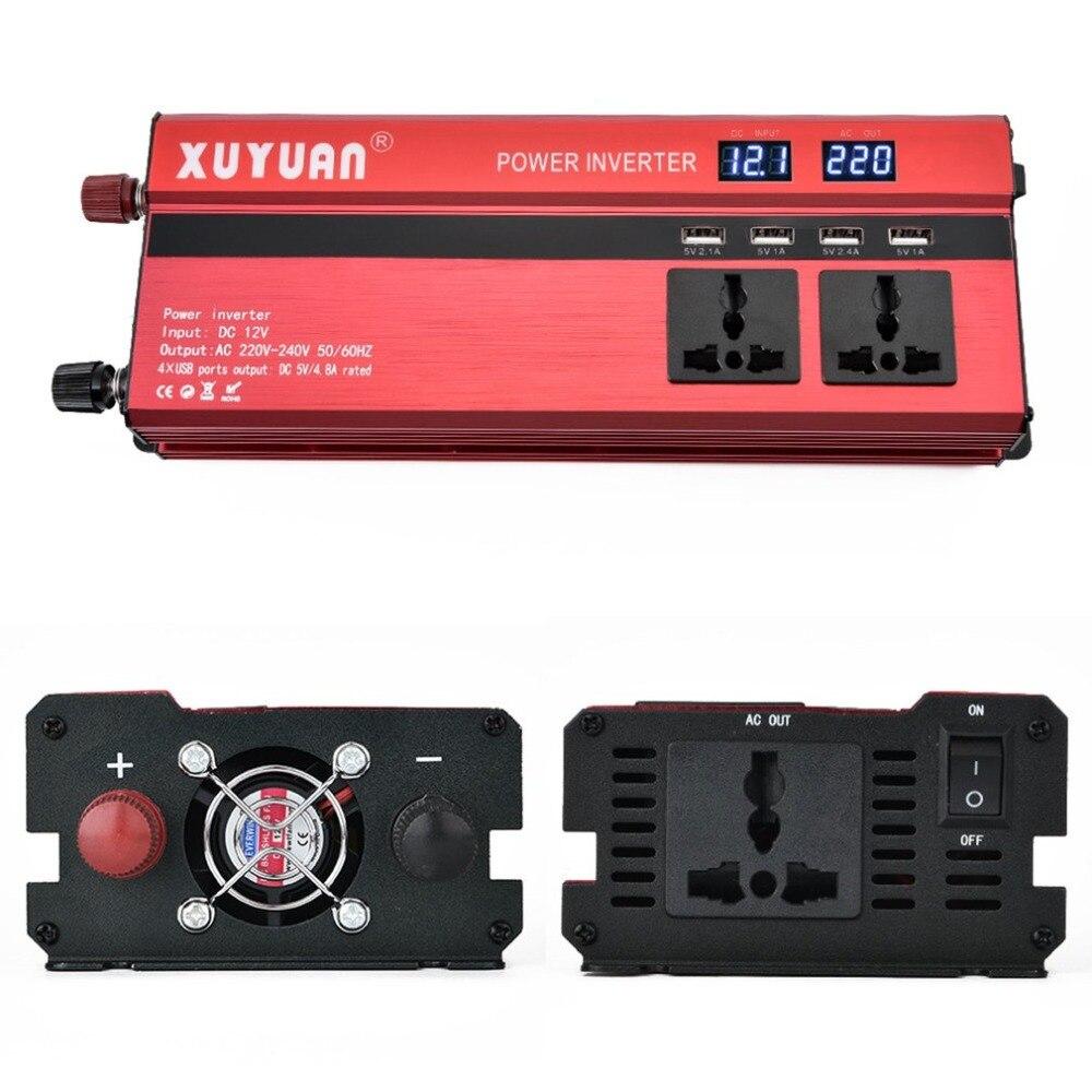 Invertor auto CPU Control port USB si Display Digital 12V 1200W pret