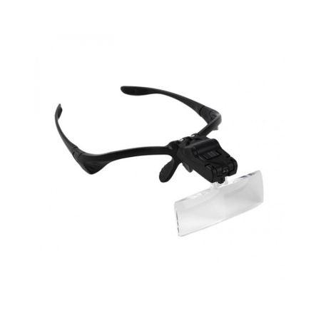Image of Ochelari cu magnificare cu 5 lentile interschimbabile si LED