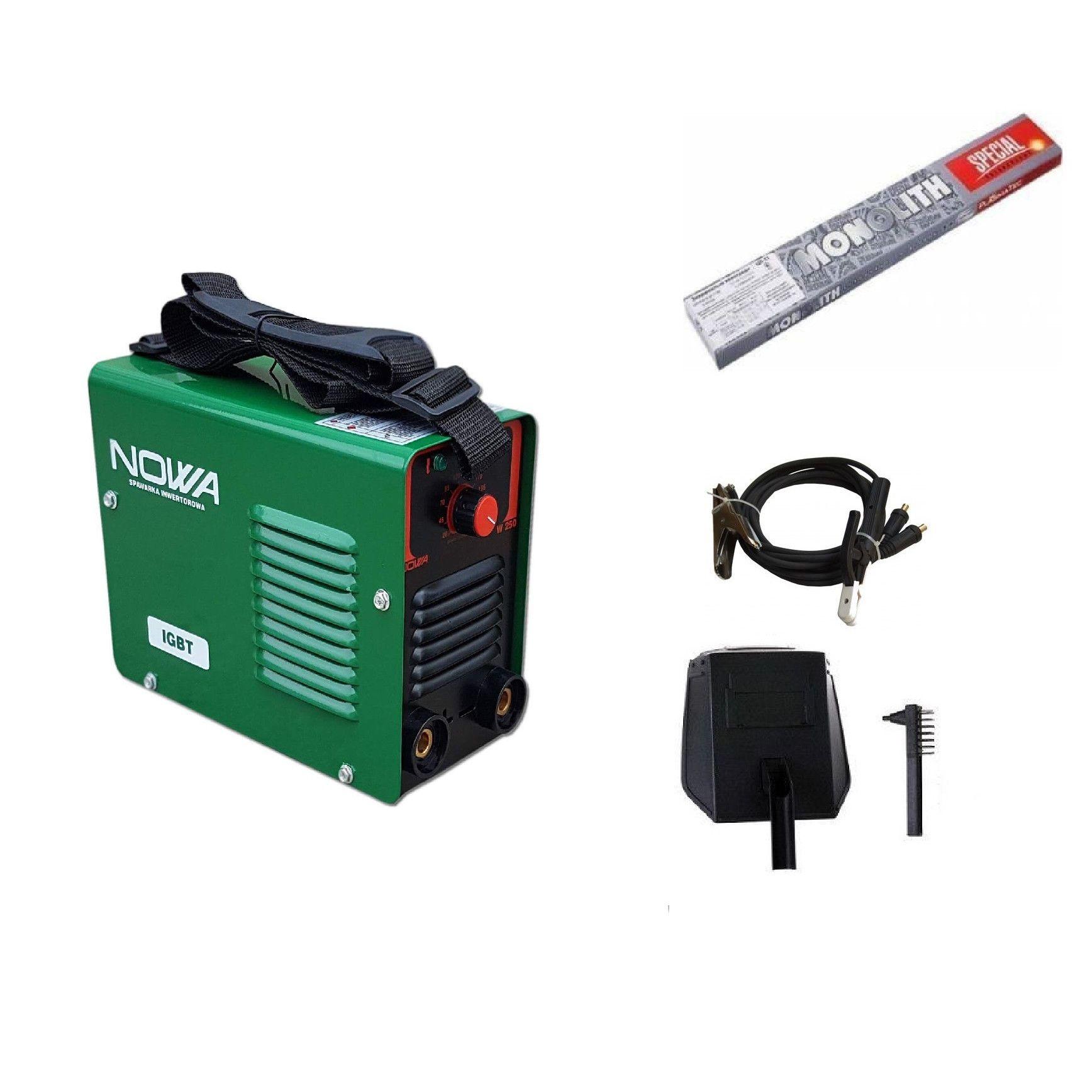 Image of Set Invertor sudura MMA Nowa 300a + Electrozi sudura 2.5 mm
