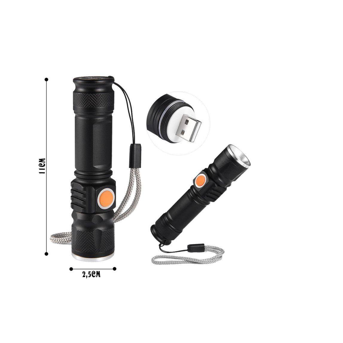 Lanterna cu acumulator si incarcare USB Electric Torch pret